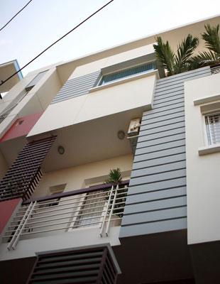 Kiến trúc nhà phố 4 tầng hiện đại