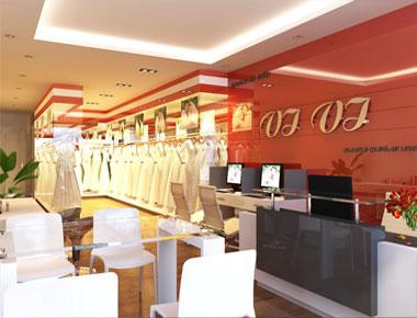 Thiết kế Showroom cưới đẹp ấn tượng