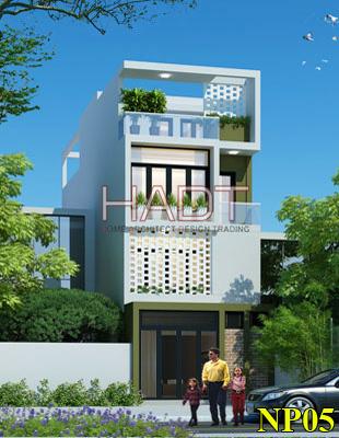 Nhà phố 3 tầng phong cách hiện đại