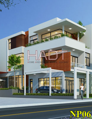 Thiết kế nhà phố 3 tầng đẹp 2 mặt tiền