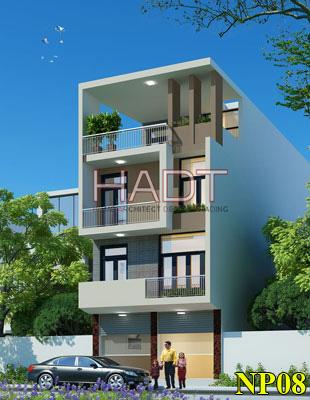 Mẫu thiết kế nhà phố 4 tầng đẹp