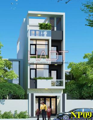 Kiến trúc nhà phố đẹp 4 tầng hiện đại