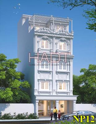 Mẫu nhà phố đẹp 5 tầng bán cổ điển