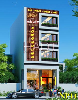 Thiết kế nhà hàng đẹp 4 tầng