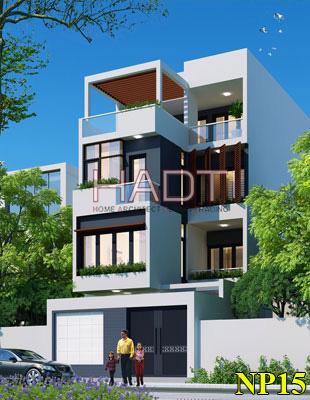 Thiết kế biệt thự phố 4 tầng đẹp nhất