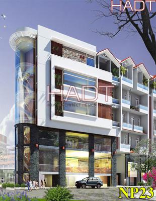 Thiết kế nhà phố đẹp 6 tầng 2 mặt tiền