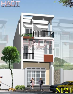 Thiết kế nhà phố hiện đại đẹp 3 tầng
