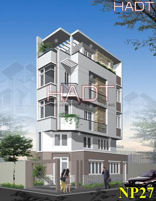 Nhà phố 4 tầng 1 tum đẹp tại Bình Phước