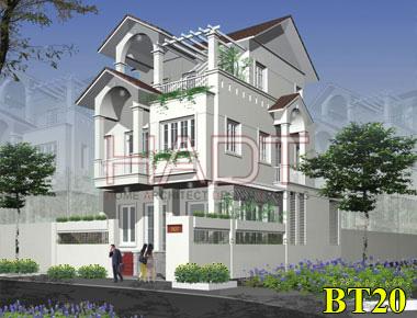 Mẫu thiết kế biệt thự phố 3 tầng đơn giản đẹp
